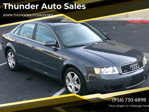 2002 Audi A4 for sale at Thunder Auto Sales in Sacramento CA