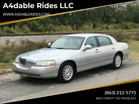 2004 Lincoln Town Car for sale at A4dable Rides LLC in Haines City FL