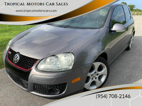 2008 Volkswagen GTI for sale at Tropical Motors Car Sales in Deerfield Beach FL