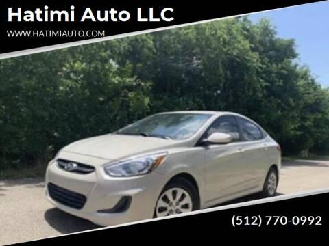 2015 Hyundai Accent for sale at Hatimi Auto LLC in Buda TX