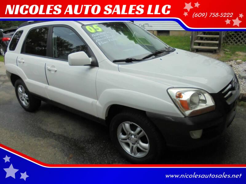 2005 Kia Sportage for sale at NICOLES AUTO SALES LLC in Cream Ridge NJ