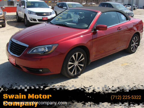 2012 Chrysler 200 Convertible for sale at Swain Motor Company in Cherokee IA