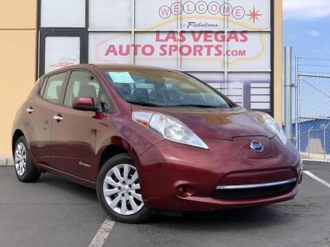 2017 Nissan LEAF for sale at Las Vegas Auto Sports in Las Vegas NV