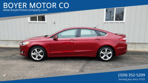 2015 Ford Fusion for sale at BOYER MOTOR CO in Sauk Centre MN