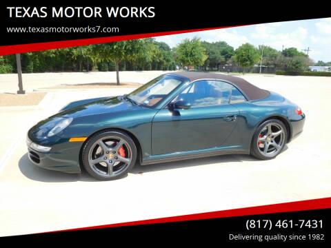 2007 Porsche 911 for sale at TEXAS MOTOR WORKS in Arlington TX