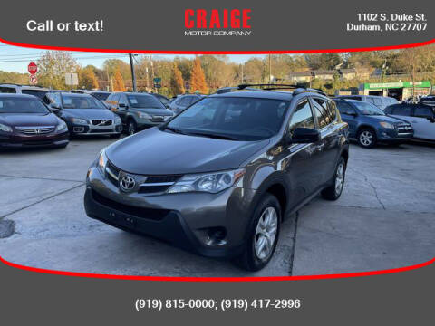 2015 Toyota RAV4 for sale at CRAIGE MOTOR CO in Durham NC