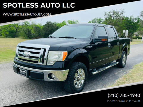 2009 Ford F-150 for sale at SPOTLESS AUTO LLC in San Antonio TX