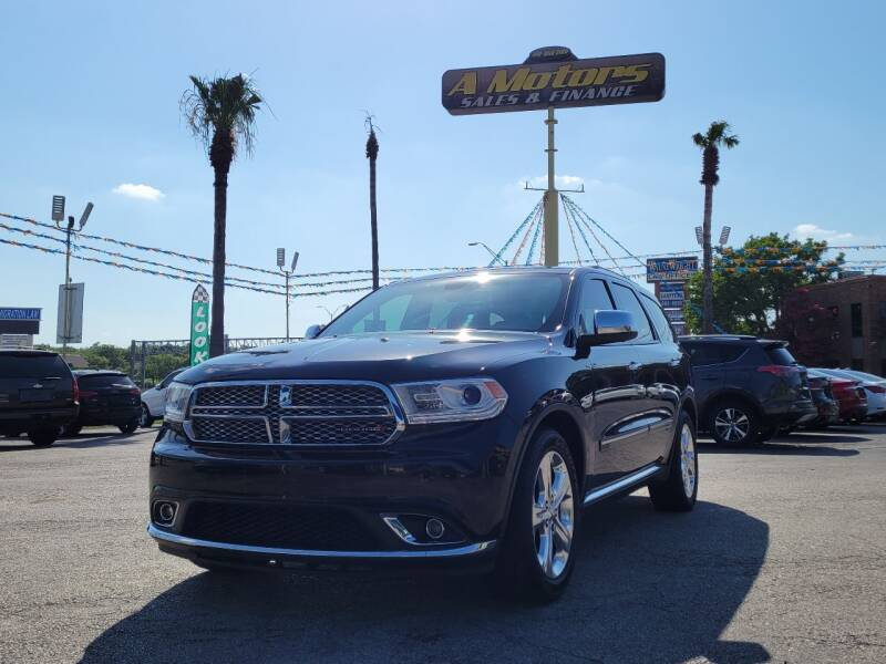 2015 Dodge Durango for sale at A MOTORS SALES AND FINANCE in San Antonio TX