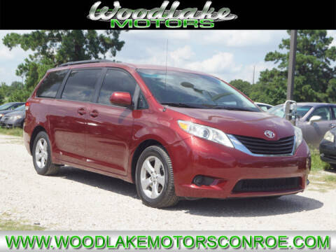 2012 Toyota Sienna for sale at WOODLAKE MOTORS in Conroe TX