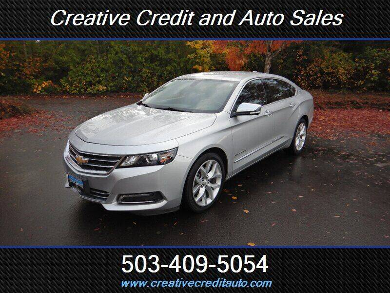 2018 Chevrolet Impala for sale at Creative Credit & Auto Sales in Salem OR