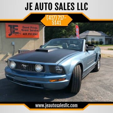 2007 Ford Mustang for sale at JE AUTO SALES LLC in Webb City MO