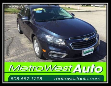 2016 Chevrolet Cruze Limited for sale at Metro West Auto in Bellingham MA