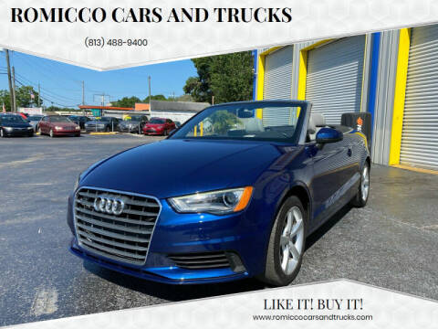 2015 Audi A3 for sale at RoMicco Cars and Trucks in Tampa FL