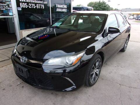 2015 Toyota Camry for sale at World Wide Automotive in Sioux Falls SD