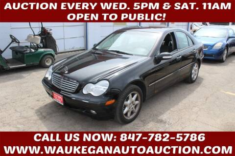 2001 Mercedes-Benz C-Class for sale at Waukegan Auto Auction in Waukegan IL