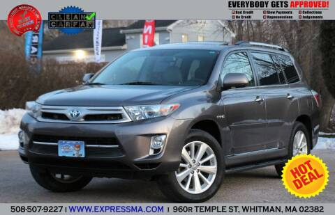 2012 Toyota Highlander Hybrid for sale at Auto Sales Express in Whitman MA