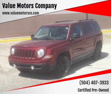 2016 Jeep Patriot for sale at Value Motors Company in Marrero LA