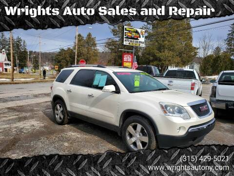 2012 GMC Acadia for sale at Wrights Auto Sales and Repair in Dolgeville NY