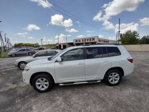 2010 Toyota Highlander for sale at BIG 7 USED CARS INC in League City TX