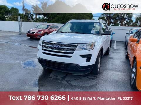 2018 Ford Explorer for sale at AUTOSHOW SALES & SERVICE in Plantation FL