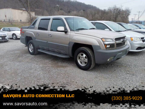 2002 Chevrolet Avalanche for sale at SAVORS AUTO CONNECTION LLC in East Liverpool OH
