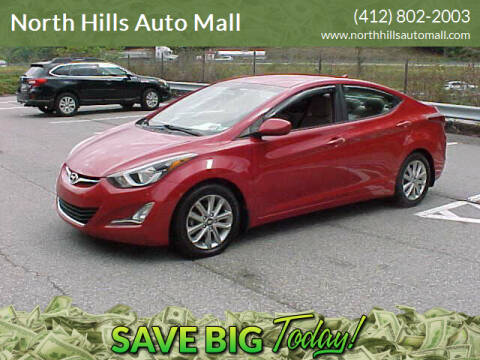 2016 Hyundai Elantra for sale at North Hills Auto Mall in Pittsburgh PA