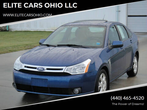 2008 Ford Focus for sale at ELITE CARS OHIO LLC in Solon OH