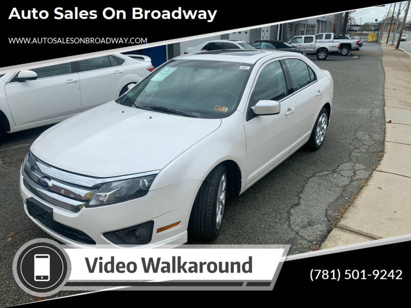 2010 Ford Fusion for sale at Auto Sales on Broadway in Norwood MA
