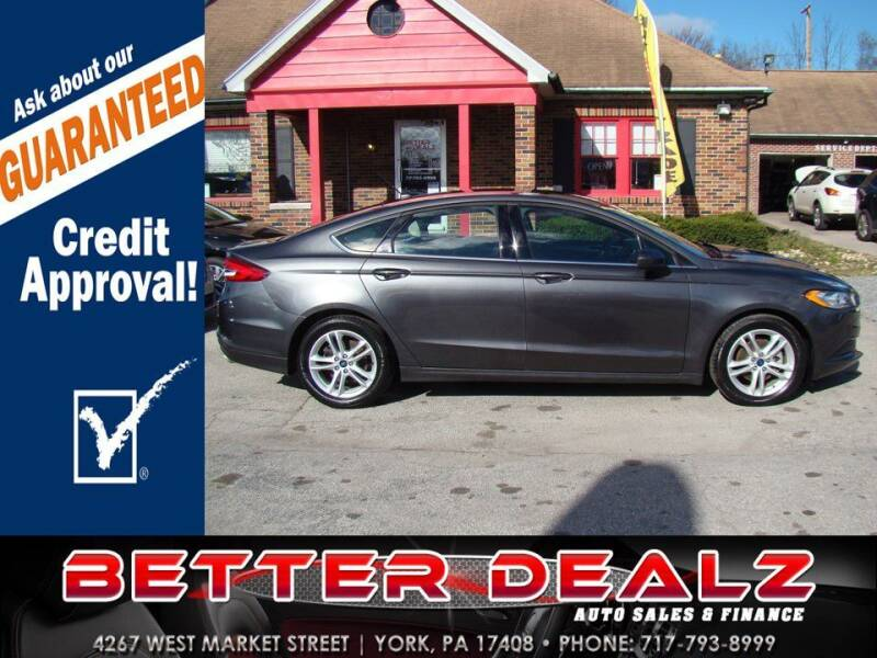 2018 Ford Fusion for sale at Better Dealz Auto Sales & Finance in York PA