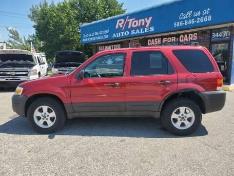 2006 Ford Escape for sale at R Tony Auto Sales in Clinton Township MI