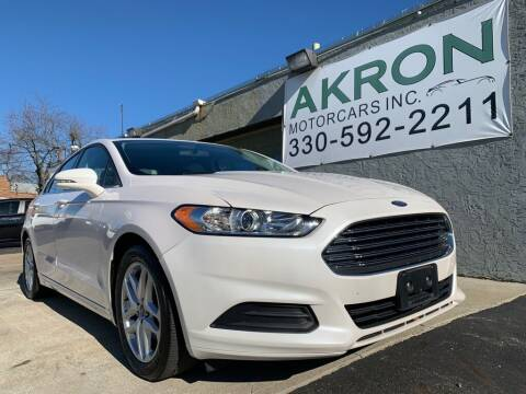 2014 Ford Fusion for sale at Akron Motorcars Inc. in Akron OH
