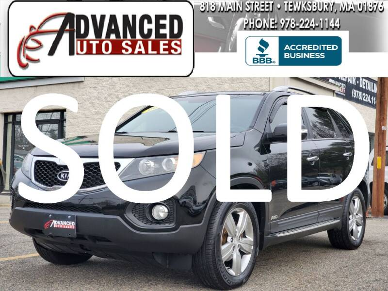 2012 Kia Sorento for sale at Advanced Auto Sales in Tewksbury MA