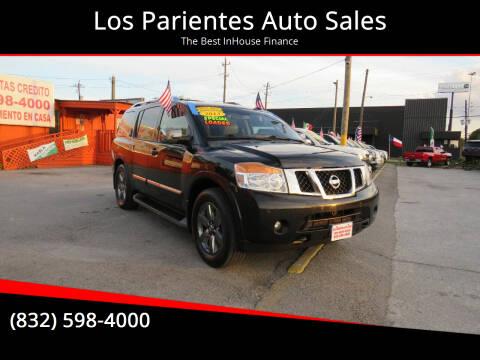 2015 Nissan Armada for sale at Los Parientes Auto Sales in Houston TX