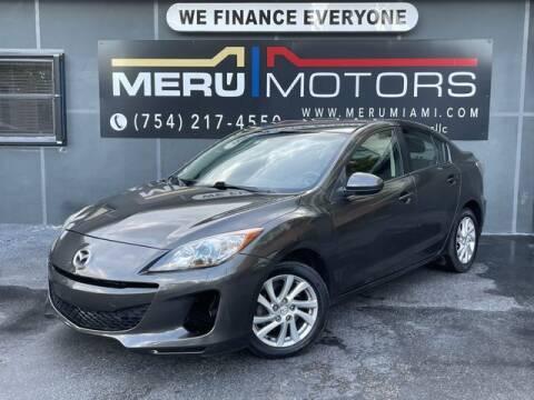2012 Mazda MAZDA3 for sale at Meru Motors in Hollywood FL