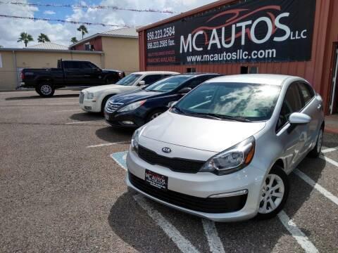 2017 Kia Rio for sale at MC Autos LLC in Pharr TX