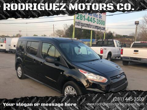 2017 Ford Transit Connect Wagon for sale at RODRIGUEZ MOTORS CO. in Houston TX