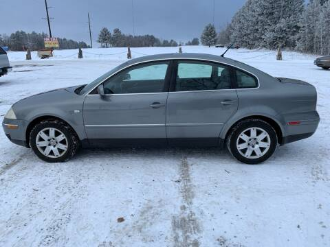2003 Volkswagen Passat for sale at Motors-N-More Online Auctions in Park Rapids MN