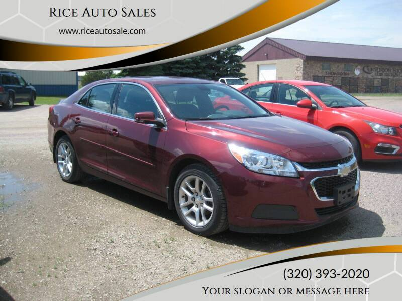 2015 Chevrolet Malibu for sale at Rice Auto Sales in Rice MN