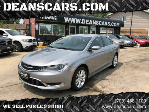 2015 Chrysler 200 for sale at DEANSCARS.COM in Bridgeview IL