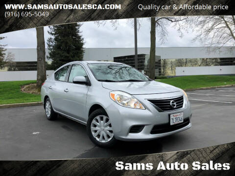2014 Nissan Versa for sale at Sams Auto Sales in North Highlands CA