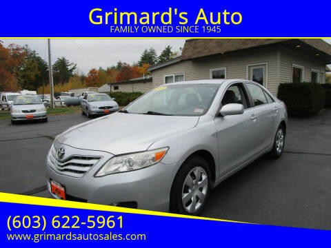 2010 Toyota Camry for sale at Grimard's Auto in Hooksett, NH