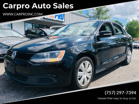 2011 Volkswagen Jetta for sale at Carpro Auto Sales in Chesapeake VA