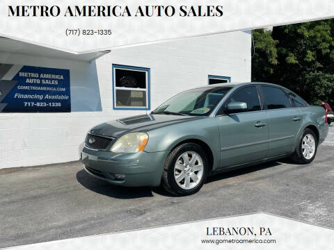 2006 Ford Five Hundred for sale at METRO AMERICA AUTO SALES of Lebanon in Lebanon PA