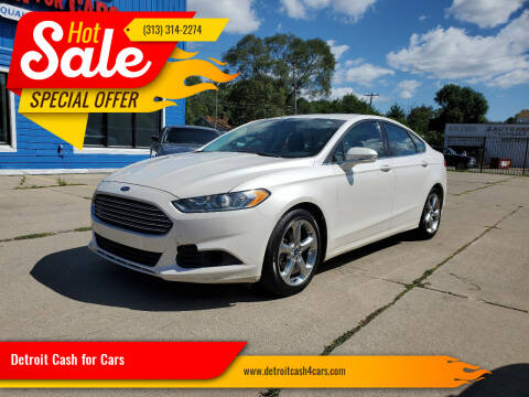 2013 Ford Fusion for sale at Detroit Cash for Cars in Warren MI
