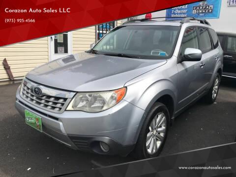 2012 Subaru Forester for sale at Corazon Auto Sales LLC in Paterson NJ