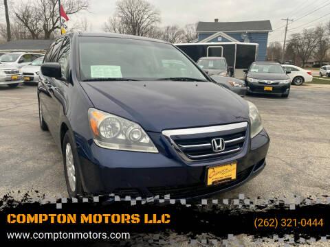 2007 Honda Odyssey for sale at COMPTON MOTORS LLC in Sturtevant WI