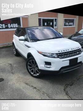 2014 Land Rover Range Rover Evoque for sale at City to City Auto Sales - Raceway in Richmond VA