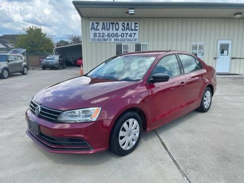 2016 Volkswagen Jetta for sale at AZ Auto Sale in Houston TX