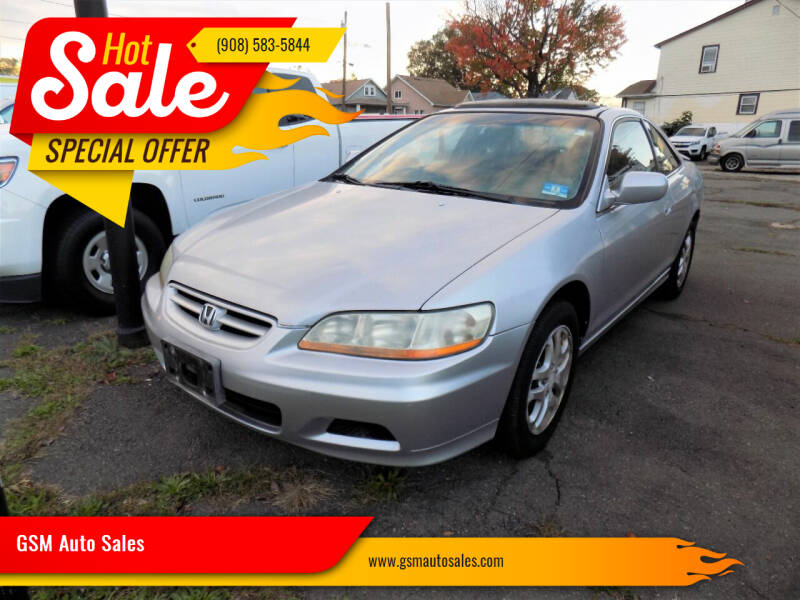 2002 Honda Accord for sale at GSM Auto Sales in Linden NJ