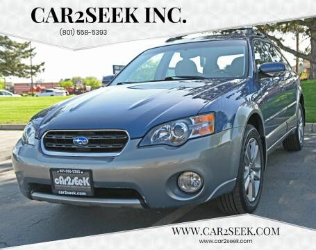 2005 Subaru Outback for sale at CAR2SEEK Inc. in Salt Lake City UT